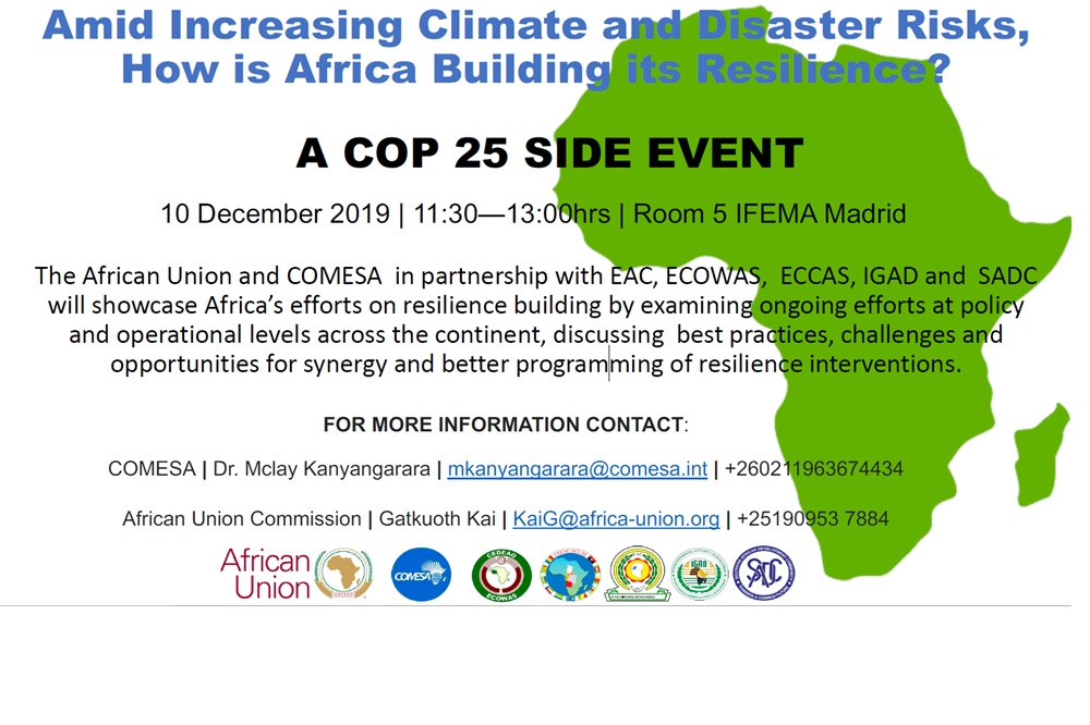 COP25 SIDE EVENT: Amid increasing climate and disaster risks