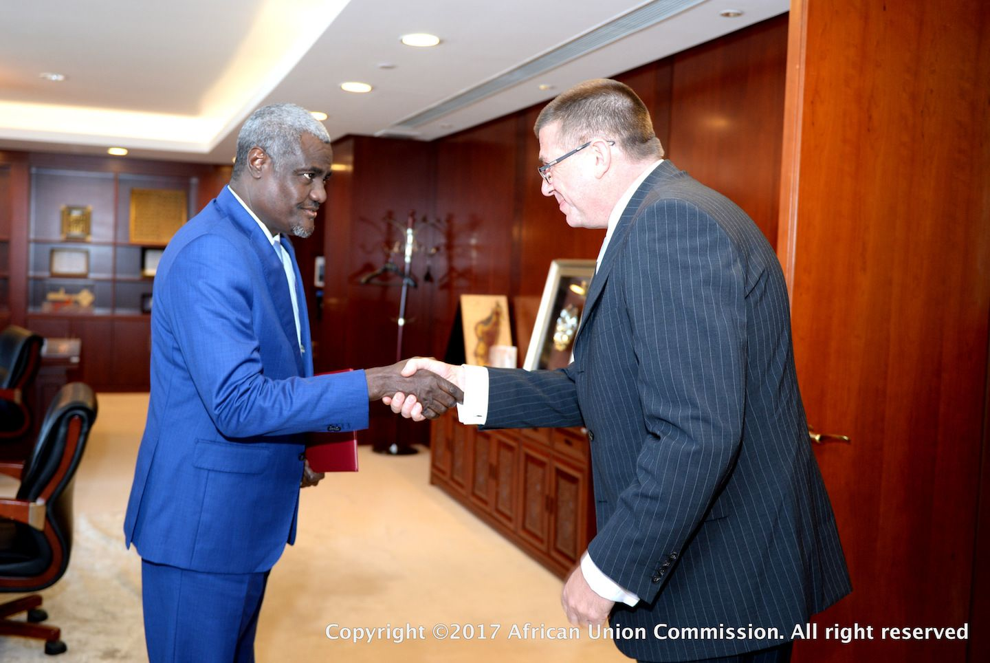 The Chairperson of the African Union Commission HE Moussa Faki Mahamat welcomed the incoming Polish ambassador accredited to the African Union Commission, HE Aleksander Kropiwnicki.