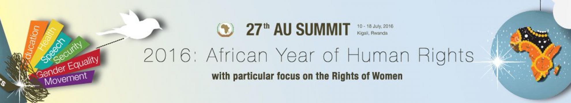 27th AU Summit banner