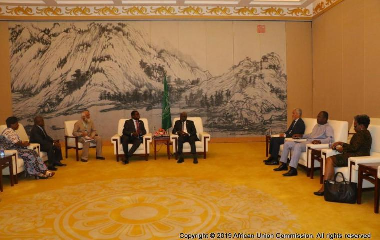 Bilateral between the AU Chairperson and the Minister of Foreign