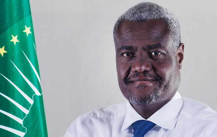 The Chairperson of the African Union Commission Moussa Faki Mahamat commends President Salva Kiir and Dr Riek Machar, leader of the SPLM/iO, for their face to face meeting in Juba, South Sudan