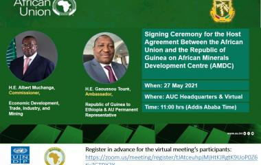Signing Ceremony for The Host Agreement Between AU And The Republic of Guinea