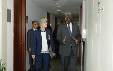 Statement following the Meeting between Chairperson Moussa Faki Mahamat and Korean Foreign Minister Kang Kyung-Wha