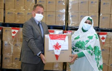 AU Receives Donation Medical Supplies  Gov Canada to Enhance COVID-19 Response