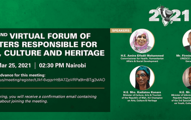 2nd Virtual Forum of The AU Ministers Responsible for Arts,Culture, And Heritage