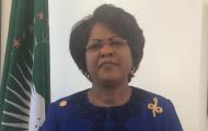 S.E. Dr Arikana Chihombori Quao s'adressant à la diaspora africaine dans les Amériques