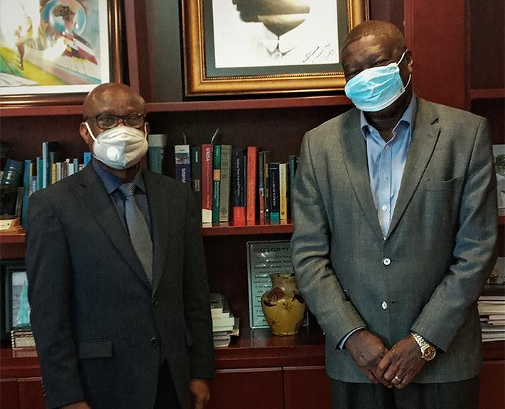 The Ambassador of Benin bids Farewell to the Deputy Chairperson of African Union Commission