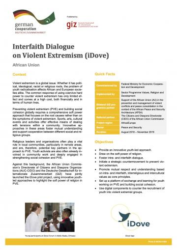 Factsheet: Interfaith Dialogue on Violent Extremism (iDove)