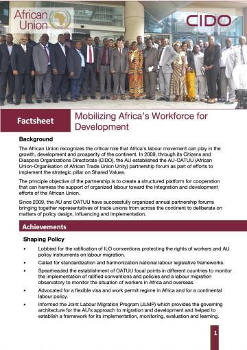 Factsheet: Mobilizing Africa's Workforce for Development