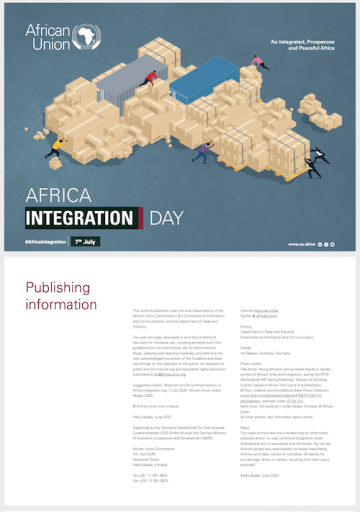 Africa Integration Day Brochure