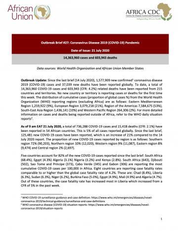 Update on the ongoing Novel Coronavirus (COVID-19) Global Epidemic, Brief #29