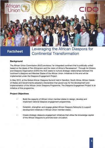 Diaspora Division factsheet
