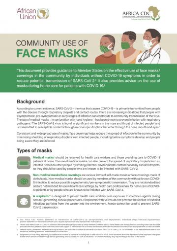 Community Use of Face Masks